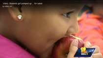 WBAL report girl eating apple 2